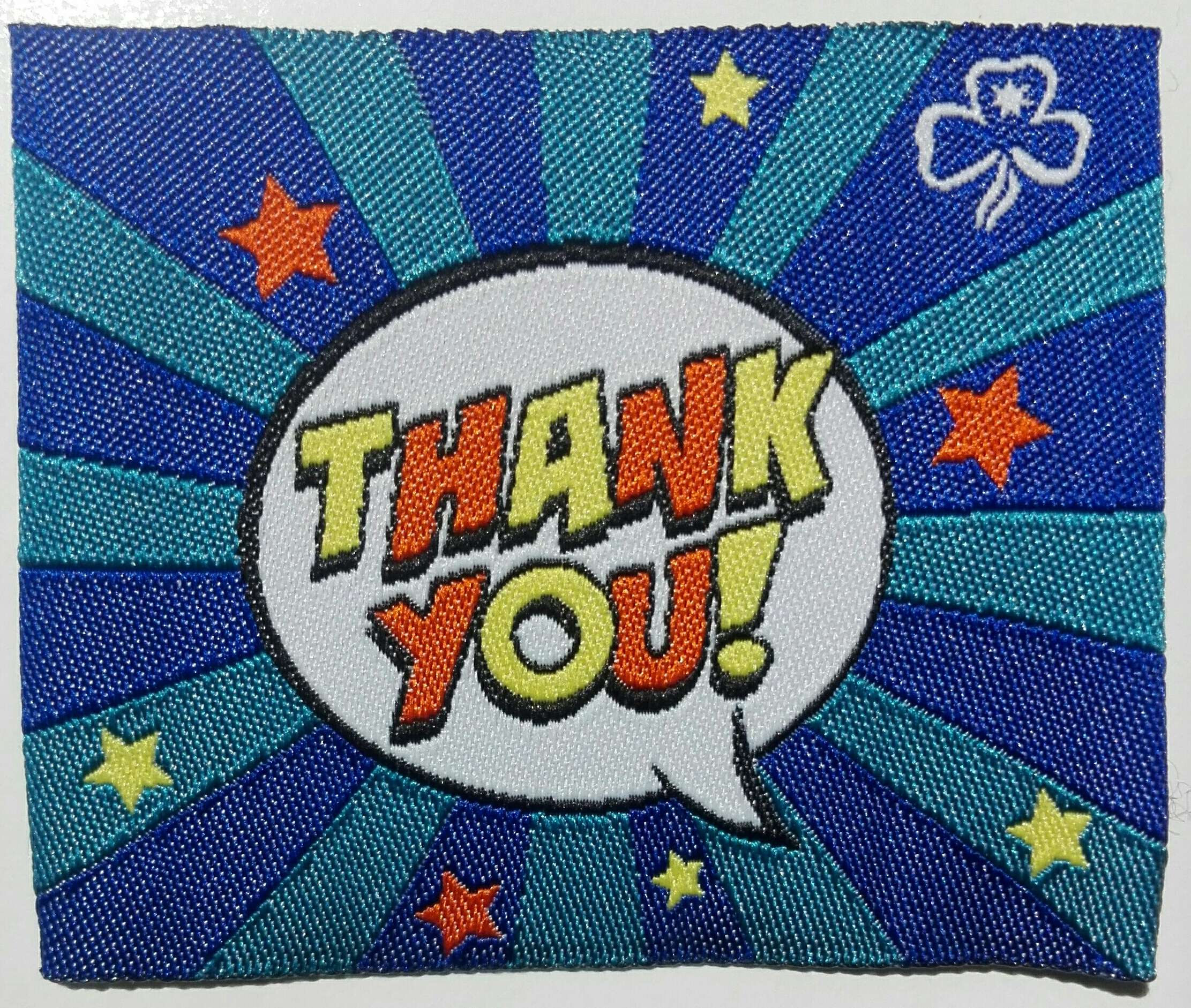 Thank You Badge - Blue with Stars