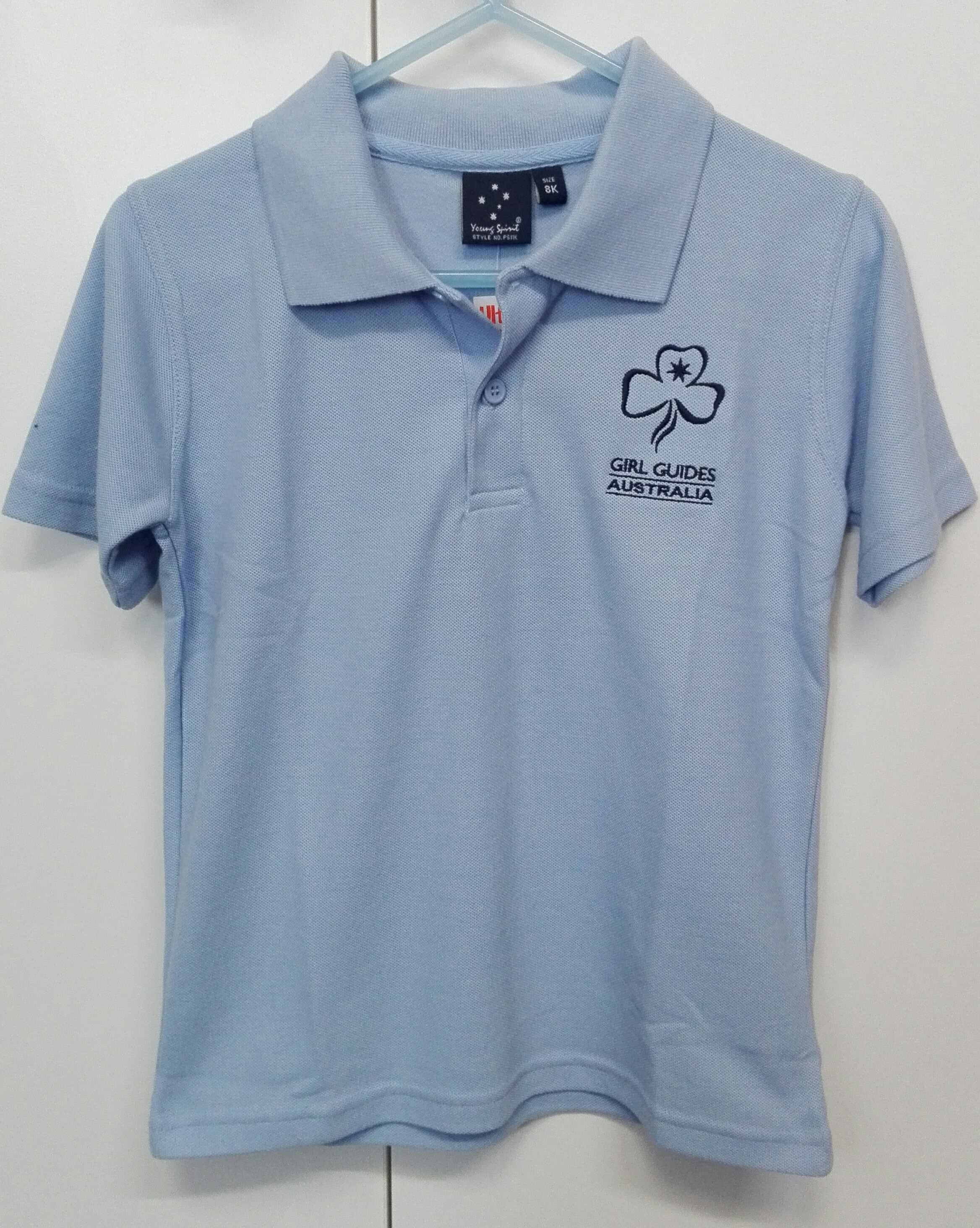 POLO Blue Camp T-Shirt Size 8Kids